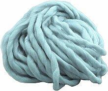 1 Strang Dicken Sperrige Klobig aus Weicher Baumwolle Superfine Faser Garn Hand Stricken Häkeln Weben Teppich Machen Baumwollgarn Blau