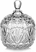 1 Stück 260 ml klares Kristallglas Bonbonniere