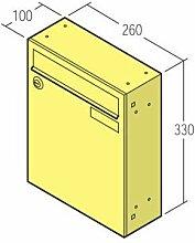 1 Stück Briefkasten 260x330 10-1-17111 ohne Klappe weiß RAL9016
