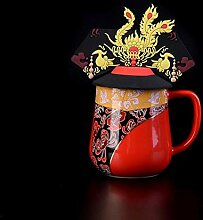 1 Stück Dragon Phoenix Keramik Tasse Farbe
