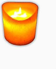 1 Stück LED Kerze 3 Dochte m. beweglicher Flamme