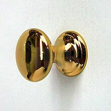 1 Stück Möbelgriff Möbelknopf für Schranktür oder Schublade, tolles Design, Messing vergoldet poliert, mit Schraube, ø= 19,8mm, H = 24mm, Sockel-ø = 19,8mm, hochwertige Qualität, Artikel-Nr. 1945-12