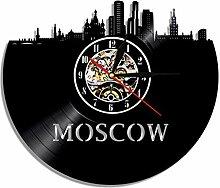 1 Stück Moskau Skyline Vinyl Record Wanduhr