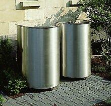 1 Stück Mülltonnenbox 240 ltr. in Edelstahl