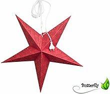 1 Stück Papiersterne Rot Weihnachtssterne Set