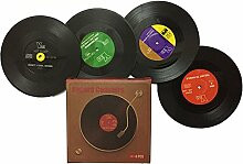 1 Stück Rekord Disc Coaster, bunte Retro Vinyl