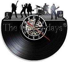 1 Stück Rockband Musik Schallplatte Wanduhr