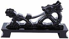 1 Stück Schwarz Chinesischen Drachen Shaped Holz