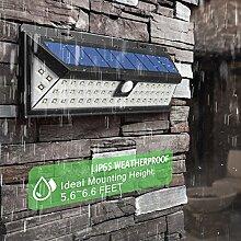 1 Stück,Solarleuchten Super hell LED 900 lm (66*LED) Wandleuchte Außen, Solar Betriebene Außenleuchte, 3 Modi Sensor Bewegungsmelder für, Garten, Zaun,Terrasse, (66 LED)