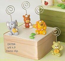 1 Stück Tiere von Dschungel Tischkarte clip Bonboniere Geburt Taufe Kommunion Konfirmation