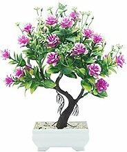 1 stück topf künstliche blume baum bonsai diy