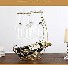 1 STÜCK Weinhalter Kupfer Weinregal hängend