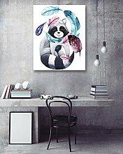 1 Stück Wohnkultur/Tiere,Federn/HD Drucken auf Leinwand Wandkunst Bild für Wohnzimmer,mit Rahmen,bereit zu hängen