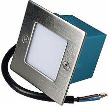 1 x 1.5W LED Wandeinbauleuchte 230V Einbaustrahler