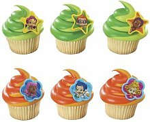 1 x 24 ~ BUBBLE GUPPIES Cupcake Ringe ~ Design