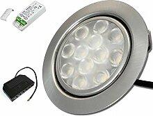 1 x 3W LED Möbeleinbauleuchte 12V super flach