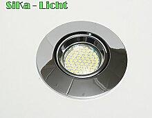 1 x Druckguss-Einbaustrahler Luca R in chrom
