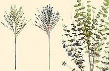 1 x Eukalyptuszweig Höhe 80 cm, Kunstzweig, Deko, Wohnung, Geschenk, Pflanze (dunkelgrün (rechts))