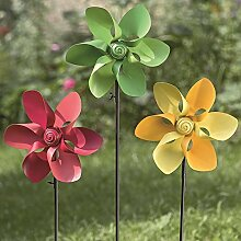 1 x Gartenstab Ariane Eisen farbmix Höhe 103 cm, Gartendeko, Gartenstecker (rot)