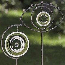 1 x Gartenstab Geronimo Eisen silber Höhe 140 cm,
