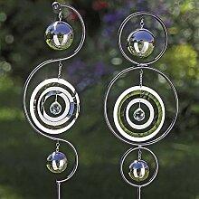 1 x Gartenstab Yolanda Eisen silber Höhe 140 cm,