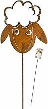 1 x Gartenstecker Schaf Rupert Schafe mit