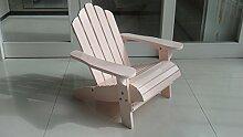 1 x Kinderstuhl Adirondack Kinder Pastellrosa 52,5 x 49 x 53