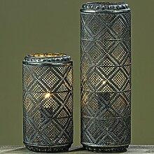 1 x Lampe Gesa Eisen grau Höhe 46 cm,