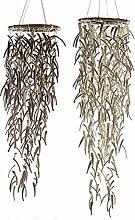 1 x Mobile Coconut Kokosnuss braun o. creme Höhe 75 cm, Windspiel, Gartendeko (links (Stückpreis))