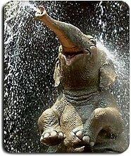 1x Motiv Elefant Happy groß Mousepad Mauspad tolle Geschenkidee