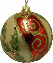 1 x Set of 4 Christmas Tree Bauble Decorations -
