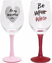 1x Valentine 's Day Weinglas Alle für, Sie