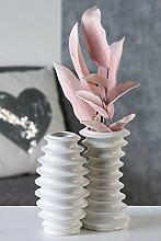 1 x Vase SALTO Porzellan weiß glasiert Höhe 21cm