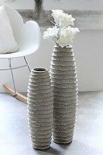 1 x Vase Shore grau matt Keramik 68cm hoch