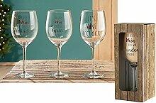 1 x Weinglas Der beste Wein ist der, den wir mit
