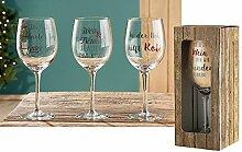 1 x Weinglas Wein & Freunde, je älter umso besser