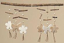 1 x Windspiel Gartenzeit Holz Länge 35 cm,