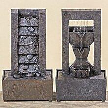 1 x Zimmerbrunnen Brunnen Höhe 25 cm, Deko, Wasser, Entspannung (bronze Sockel (links))