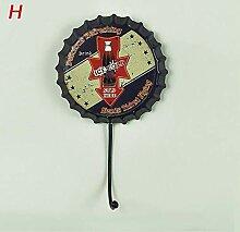 10 × 17 cm, Retro-Bierdeckel-Dekorationshaken,