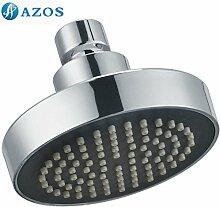 10,2cm Badezimmer Dusche Head Wasserfall Rainfall Feste Wand montiert Grade Kunststoff ABS Chrom poliert Silber fhs025