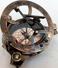 10,2cm West London Messing Sonnenuhr Kompass ~ Vintage Maritime Antik Messing Kompass