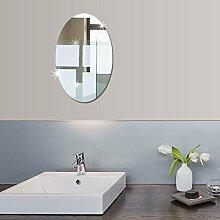 10.6x 16.5 Zoll (kleine Größe) Badezimmer Selbstklebende abnehmbare ovale Spiegel Wandaufkleber Home Decor by MFCreative