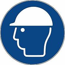 10 Aufkleber Kopfschutz benutzen - Helm Tragen