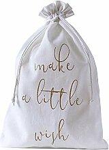 10 Baumwollsäckchen, Baumwollbeutel, Farbe: Weiss