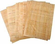 10 Blank ägyptischen Papyrus-Blätter für Kunstprojekte und Schulen 12x16in 30x40cm
