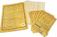 10 Blank ägyptischen Papyrus-Blätter für Kunstprojekte und Schulen6x8 Inch (15x20 Cm)