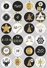 10 Blatt Countdown Adventskalender Zahlen