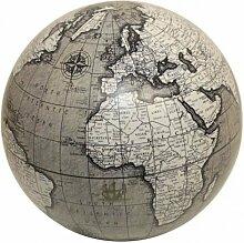 10cm Globe Dekoration grau