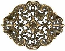 10 Deko-Ornament Verzierungen Scrapbooking oval