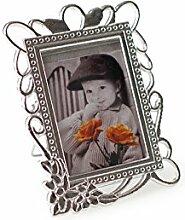 10 Frame Bilderrähmchen mit Ständer 4-fach sortiert Glas-Metall , altsilber